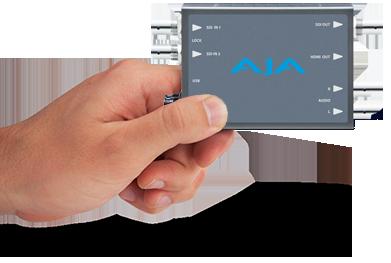 aja IPR-1G-HDMI très compacte
