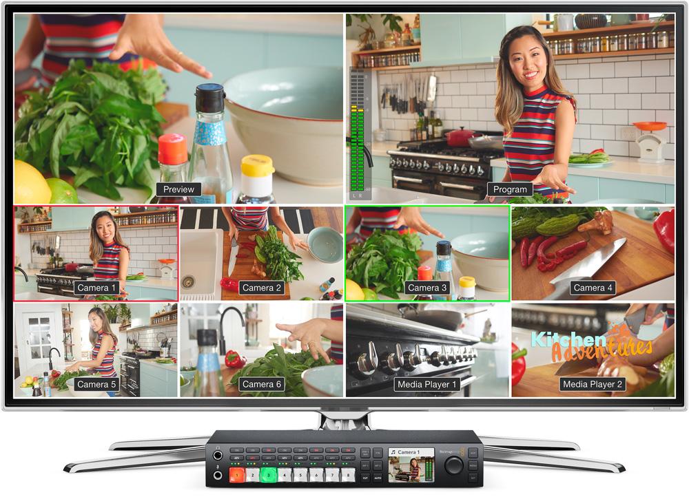 multiview integré dan le mélangeur blackmagic ateo televisión studio pro hd