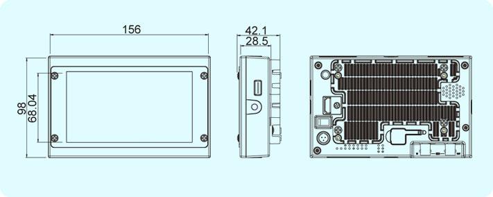 dimensions moniteur TVLOGIC VFM-58W