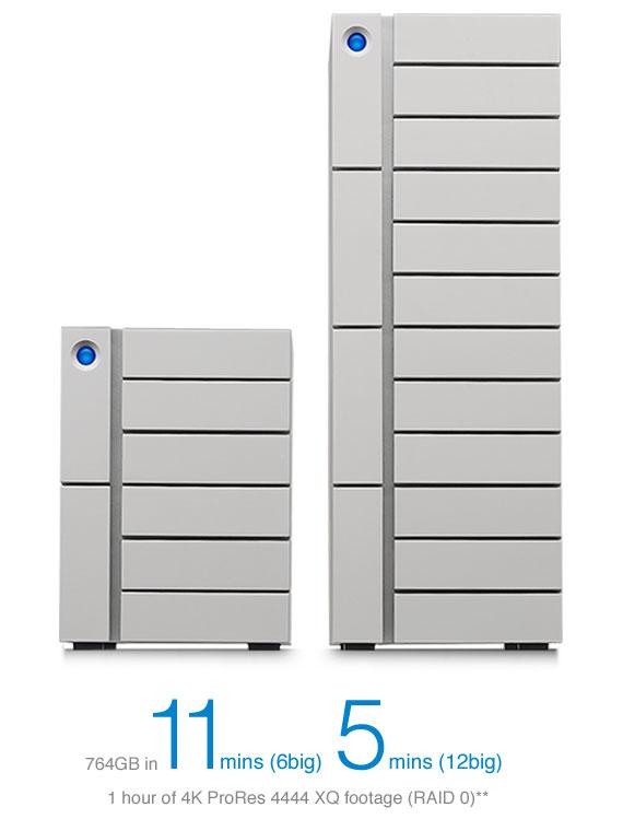 capacité disque dur lacie t6 BIG et 12 BIG Thunderbolt