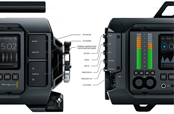 connectique Camera Blackmagic URSA
