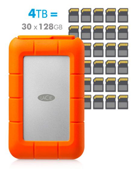 Lacie Rugged RAID - Capacité considérable et format compact