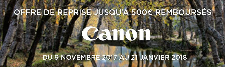 Offre Canon EOS Bonus de reprise Hiver 2017