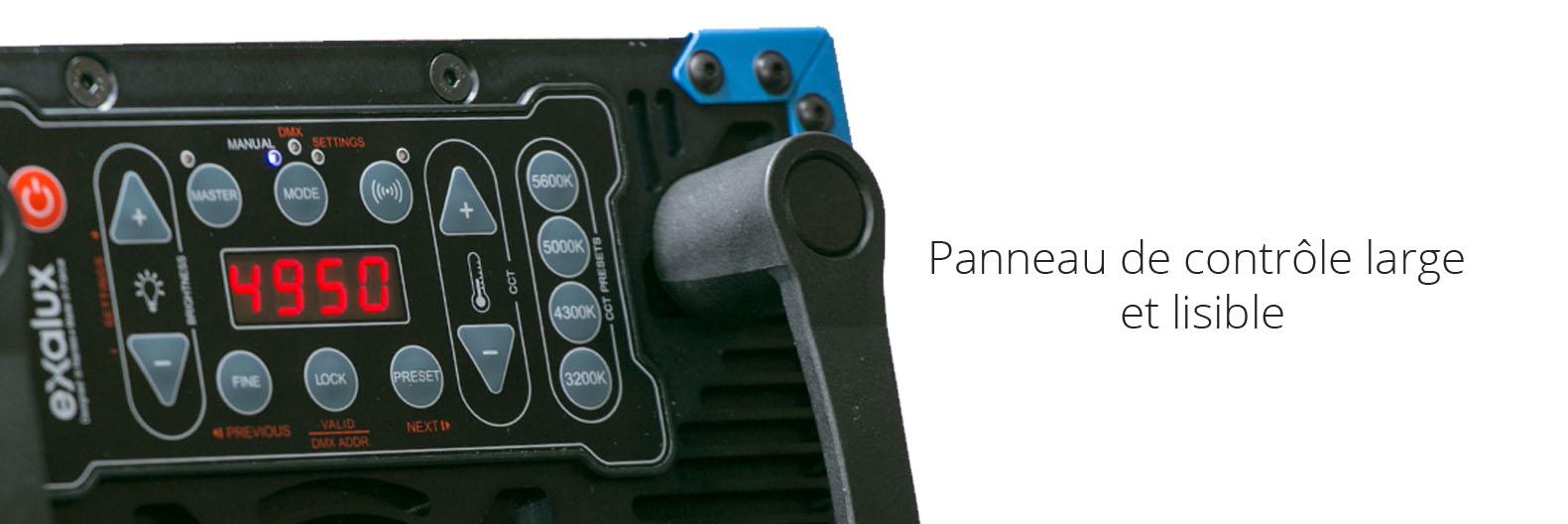 Panneau LED EXALUX ROCK