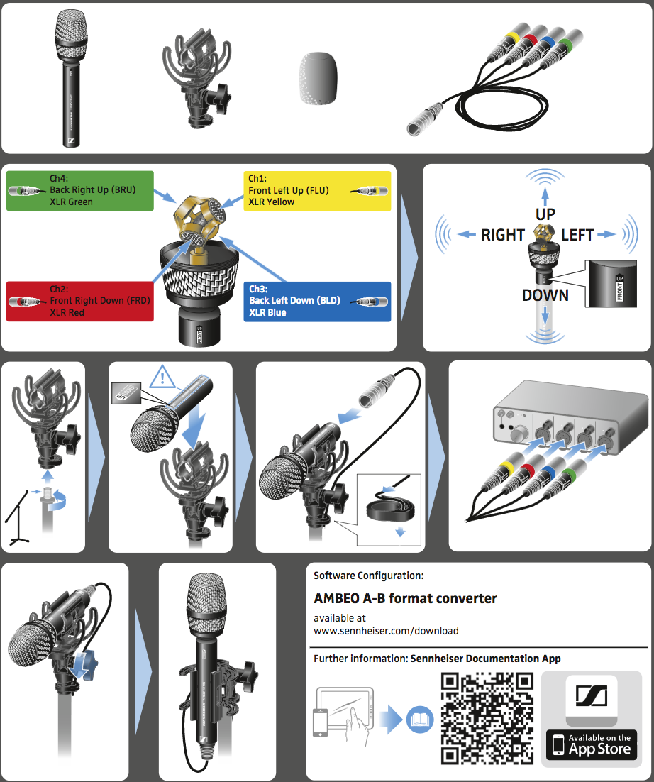 Guide de démarrage rapide micro 3d sennheiser ambeo vr-MIC