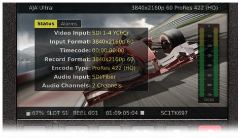 Enregistreur Aja Ki Pro Ultra - Ecran LCD