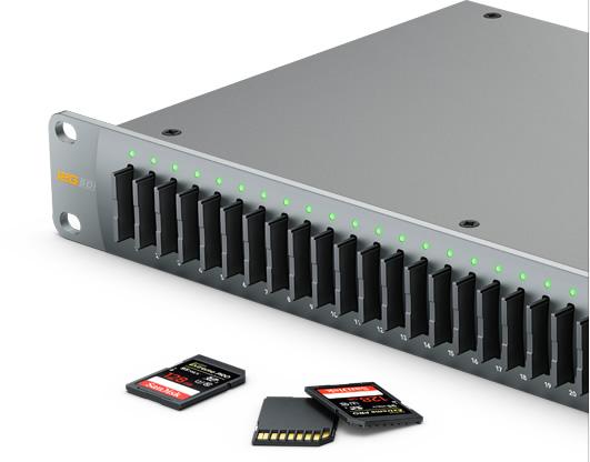 Enregistreur Blackmagic Design Duplicator 4K - Formatage rapide des cartes